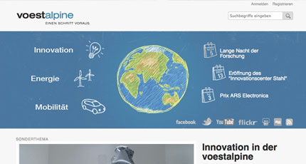 voestalpine Innovation Website Overview