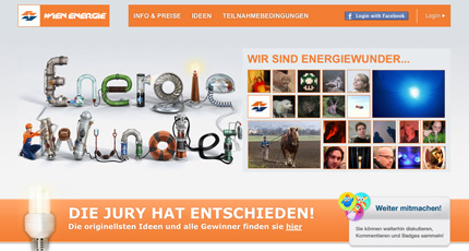 Wienenergie Energiewunder Website